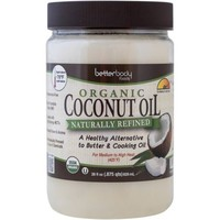 BetterBody Foods Naturally Refined Organic Coconut Oil, 28 fl oz - Walmart.com
