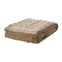 "URSULA Throw, beige - 47x71 "" - IKEA"
