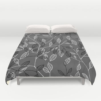 Leaves #1 Duvet Cover by Salted Seven