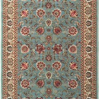 """Ottomanson Ottohome Collection Traditional Floral Design Modern Area Rug with Non-Skid (Non-Slip) Rubber Backing, 3'3"""" W X 5' L, Dark Red"""