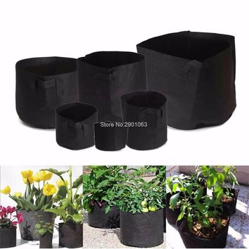 Round Fabric Pots Plant Pouch Root Container Grow Bag Aeration Pot Container
