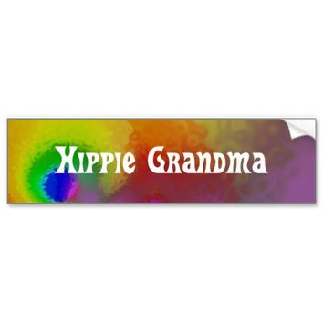 hippie grandma car bumper sticker
