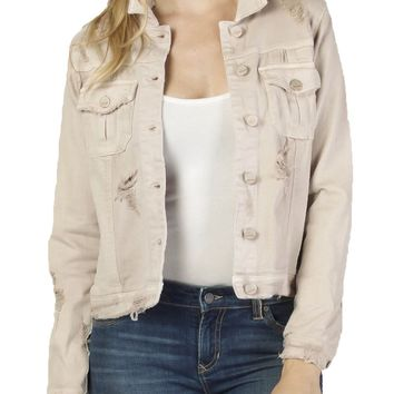 Dear John Alissa Bitter Sweet Distressed Denim Jacket