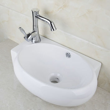 Ceramic Washbasin 2014 Tw321010000 Vessel Lavatory Basin Bathroom Sink Bath Combine Brass FaucetsMixers & Taps