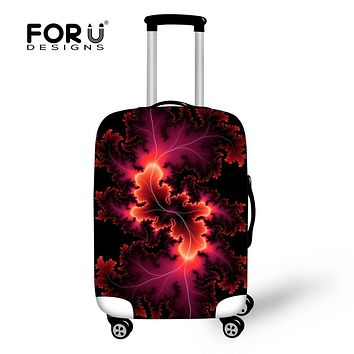 FORUDESIGNS Protector Elastic Luggage Cover for 18-30 inch Trolley Suitcase Cover Luggage Accessories with Zipper (Cover Only)