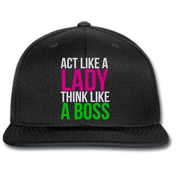 act like a lady think like a boss snapback cap benaie knit cap hat