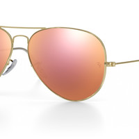 Ray-Ban Aviator 58MM Pink Flash Lens Gold Frame
