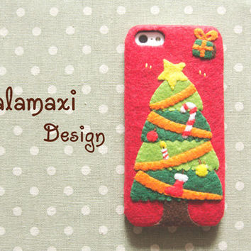 Handmade Christmas Tree iPhone 6/6S Case, Christmas Phone Cover, Christmas Tree Samsung S6 Edge Case, Custom Phone Case, Christmas Gift Idea