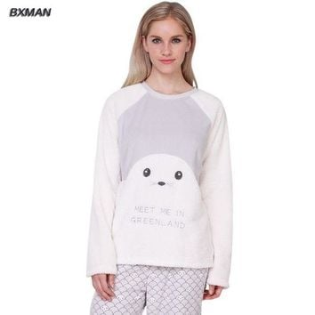 CREYCI7 BXMAN Brand Spring&Autumn Women Pajamas Soft & Comfortable Baby Seal Modeling Super Cute Pajamas sets Size XS~L