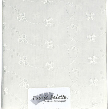 fabric palette quilt fabric pre-cut white eyelet
