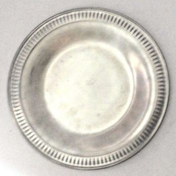 "Vintage Towle Pewter Dinner Plate 10"" Newburyport 7633-P"
