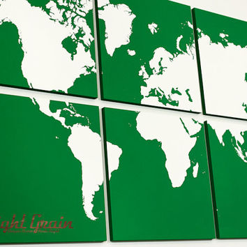 Large World Map Wall Art Original Painting - Made Just for You - Perfect Gift