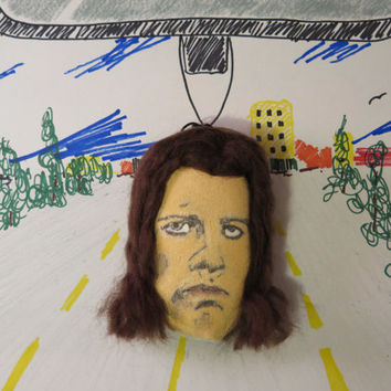 Pulp Fiction. Fabric Car Air Freshener. (Scented Clay) Holder. Choose a Scent