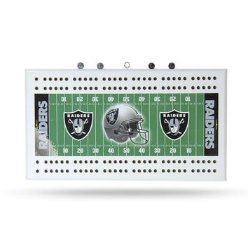 Oakland Raiders NFL Cribbage Board
