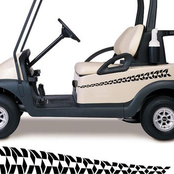 Golf Cart Go Kart Decals Side By Side Stickers Graphics Tribal Flames Stripes GG04