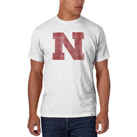 '47 Brand Nebraska Cornhuskers Mens Short Sleeve Fashion T-Shirt - White