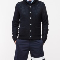 Todd Snyder Baseball Sweater w/ bound collar