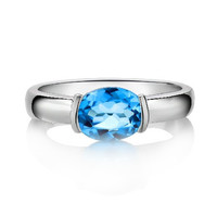 1.4ct Topaz silver ring