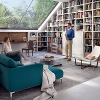 Open wall-mounted lacquered bookcase MEGA-DESIGN Mega-Design Collection by Hülsta-Werke Hüls