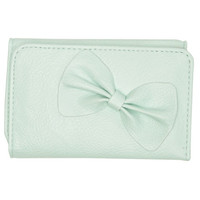 Adorable Bow Foldover Wallet - WetSeal
