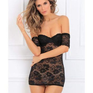 Rene Rofe Seductively Stunning Lace Dress Black