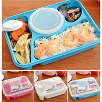 New Portable Bento Lunch Box Utensils Food Storage Containers Microwave Oven Box