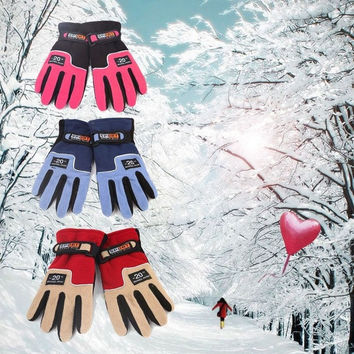 Women Warm Winter Gloves Fleece Snowboard Snow Skiing Mittens = 1957990852