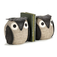 pair of ollie owl bookends by the literary gift company | notonthehighstreet.com