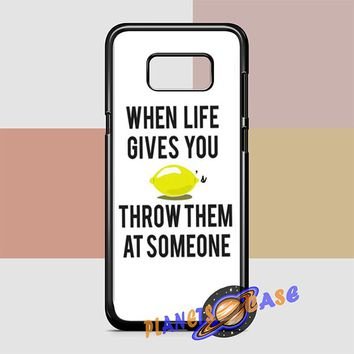 When Life Gives You Lemons Samsung Galaxy S8 Plus Case Planetscase.com