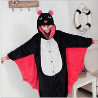 Hot Bat style Pajamas Animal pajamas Cosplay Costume Onesuits for Adult flannel cartoon animal sleepwears design for toilet