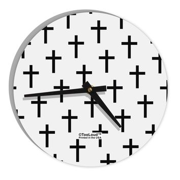 """Christian Crosses 8"""" Round Wall Clock All Over Print"""