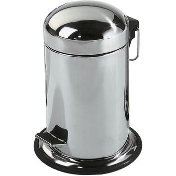 DWBA Round Step Trash Can, Stainless Steel Wastebasket W/ Lid Cover