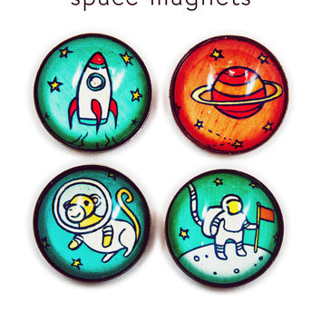 Outer Space Magnets by Susie Ghahremani / boygirlparty.com