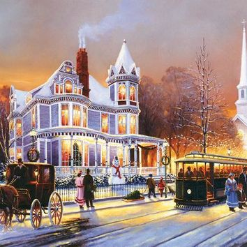 Winter in the City 500+pc Jigsaw Puzzle