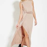 Knotted-Side Maxi Dress