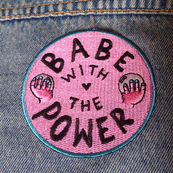 Babe with the Power Patch / Iron-on / Feminist / Girl Power / Labyrinth / David Bowie / Christmas