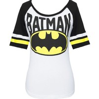 Batman Logo Juniors Raglan T-shirt (Large)