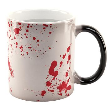 Halloween Blood Splatter All Over Heat Changing Coffee Mug