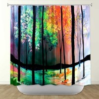 DiaNoche Designs Shower Curtains by Artist Aja Ann Unique, Cool, Fun, Funky, Stylish, Decorative Home Decor and Bathroom Ideas - The Four Seasons