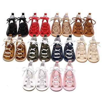 Kids Leather Gladiator Sandals - Baby/Toddler that lace up