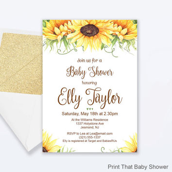 best sunflower invitation products on wanelo