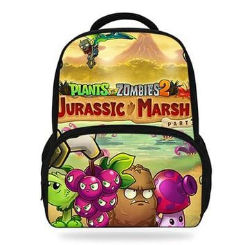 Boys Backpack Bag Newest Hot Game Plants VS Zombie Print s For Teenage Girls School Bags Orthopedic Cartoon  For Kids Boys AT_61_4