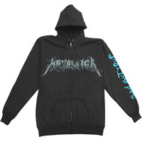 Metallica Men's  Sad But Fckdup Zippered Hooded Sweatshirt Black Rockabilia