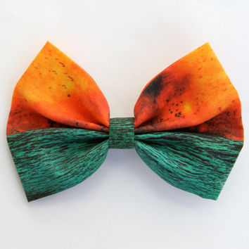 Deja Entendu Inspired Bow -Deja Entendu Brand New Album Cover Background Hair Bow with Clip LIMITED EDITION