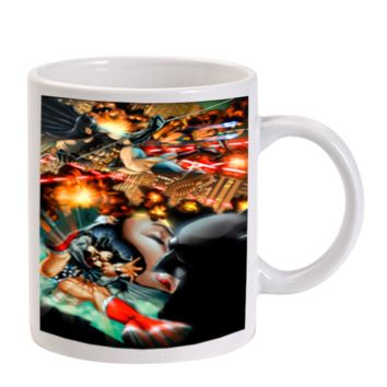 Gift Mugs | Batman And Wonder Woman In Action Ceramic Coffee Mugs