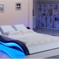 King Size Bed With Led and Sound System For Bedroom