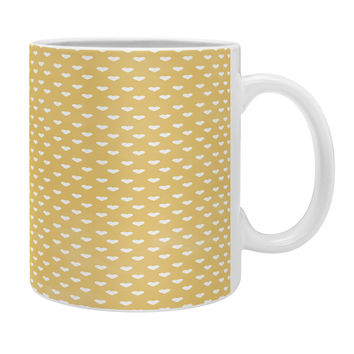 Allyson Johnson Dainty Yellow Hearts Coffee Mug