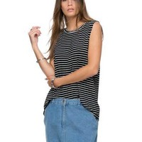 Discount Off 58% The Fifth Label - Womens T-Shirts/Singlets - Moonlight Tank Black White Stripe - Coactea.org.au