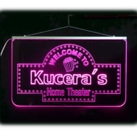 Personalized Home Theater Bar Sign