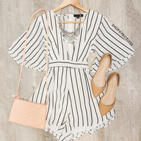 Hey Babe Striped Romper